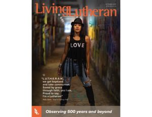 Dr. Kelly Glow on the Cover of Living Lutheran Magazine