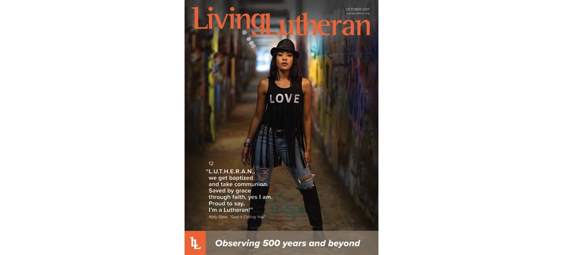 Kelly Glow - Cover of Living Lutheran Magazine